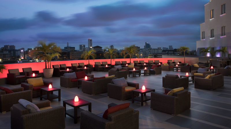 Couples Treat The Office Rooftop Bar Four Points By